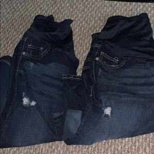 (2) Maternity Jeans. Dark blue